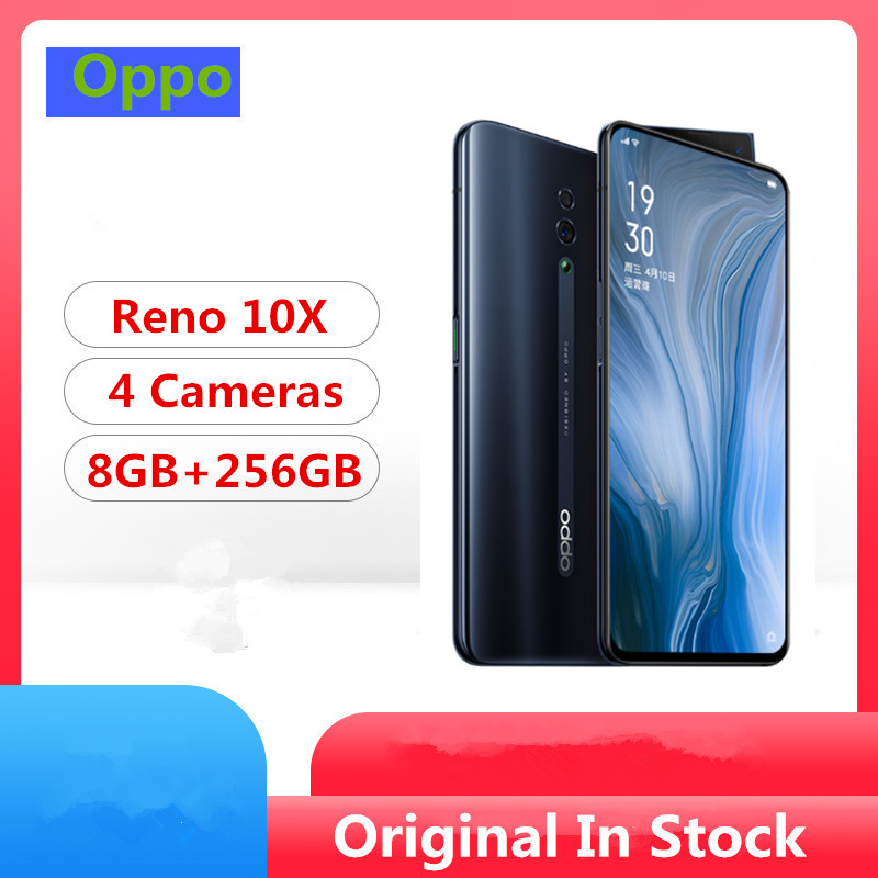 "Original Oppo Reno 10x zoom Mobile Phone Snapdragon 855 6.6"" IPS 2340X1080 8GB RAM 256GB ROM 48.0MP Slide Camera NFC Fingerprint