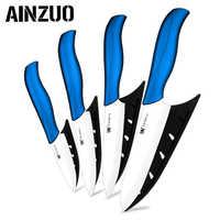 3 4 5 6 дюймов Кухонные керамические ножи шеф-повара черный зеленый красный синий зеленый цирконий керамический один нож для очистки овощей к...