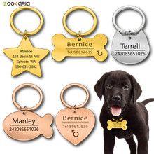 Keychain Tag Pendant Pet-Accessories Id-Tag Engraved Puppy Dog-Collar Keyring-Bone Dog-Pet