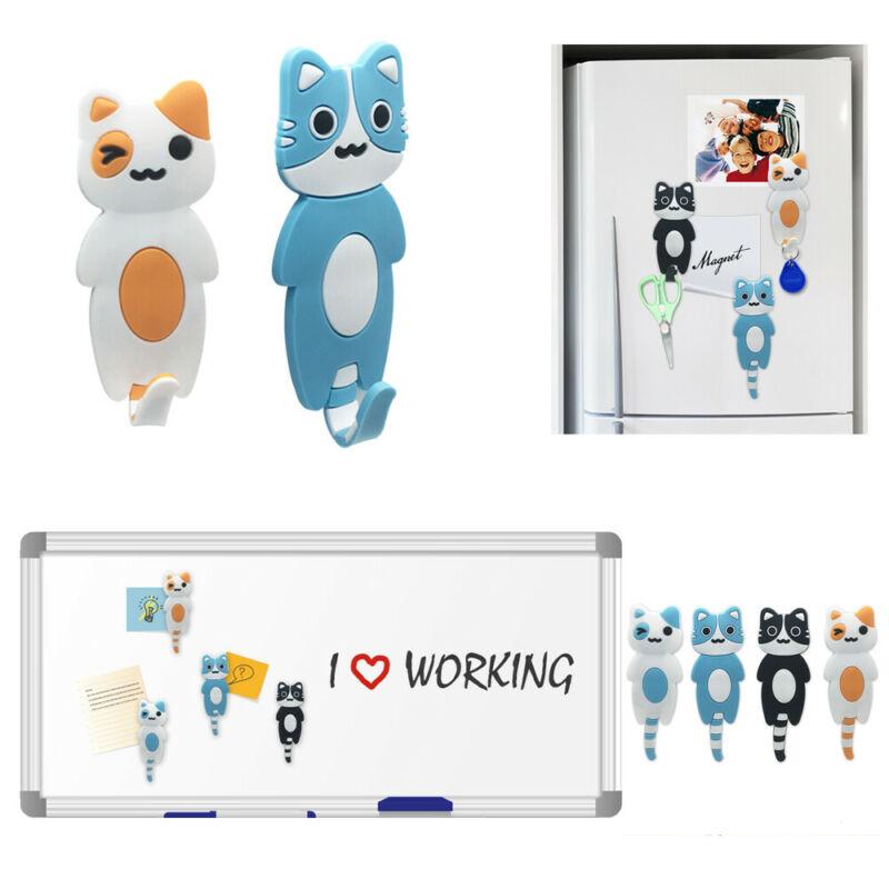 Cute Little Cat Magnetic Refrigerator Sticker Home Fridge Magnet Hanging Hook