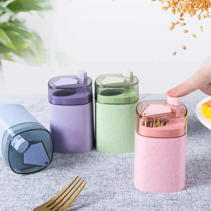 Table Automatic Toothpick Holder Kitchen Portable Tool Household Storage Box HO3