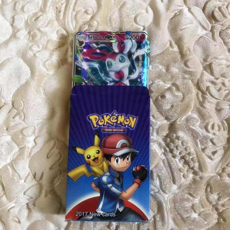 20 Buah/Set Anime Takara Tomy Inggris Kata-kata Pokemon Carte Mega GX Engery Pertempuran Permainan Kartu Perdagangan dengan Kotak Kertas mainan Anak