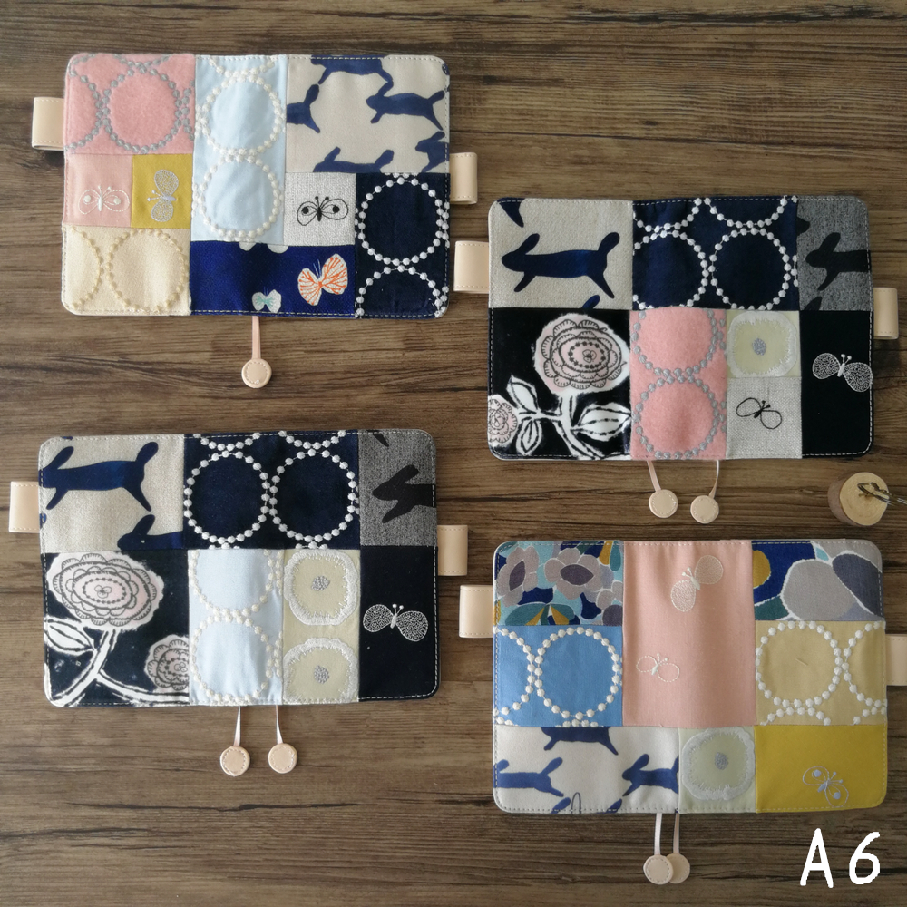 Soft cloth cover design Japanese style journal cover A5 A6 suit for H o b o standard A5/A6 fitted paper book