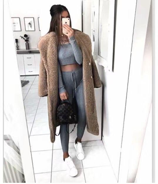 Ha7df831413ba4518bba062a933b4546ef Faux Fur Teddy Coat Women Autumn Winter 2020 Casual Plus Size Long Jacket Female Thick Warm Outwear Oversize Fur mujer chaqueta