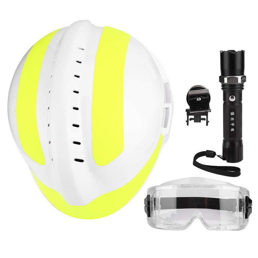 e óculos de proteção de segurança capacete de resgate