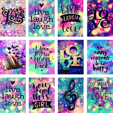 AMTMBS Love Letter DIY Oil Painting By Numbers Paint Canvas Art Kits Coloring Home Decoration