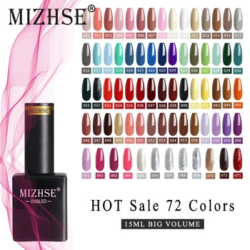 MIZHSE Gel Nail Polish Set Hybrid Varnishes 6/8Pcs Soak Off UV LED Semi Permanent For Manicures Led Varnish