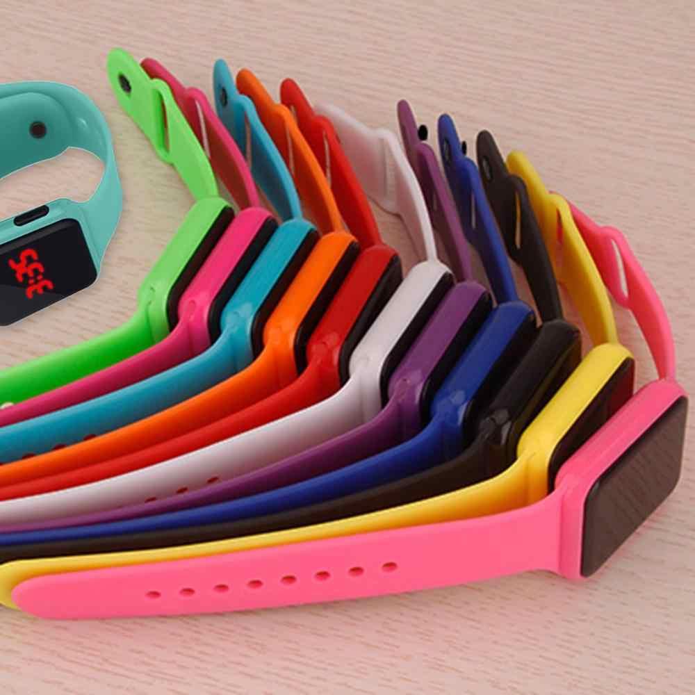 Digitale Della Vigilanza delle Donne degli uomini di Sport LED Orologi In Silicone Elettronici Colorati Orologi Da Polso Orologio Elettronico Orologio digitale Orologio di Modo