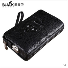 heimanba new Hand caught Men bag Thailand large capacity password lock men bag crocodile leather men clutch bag