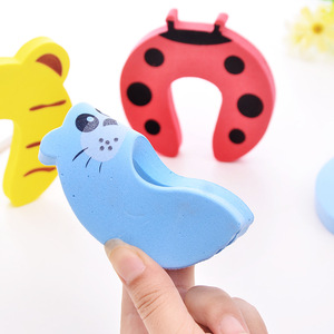 Image 5 - 5pcs Baby Child Proofing Door Stoppers Finger Safety Guard Random Holder Lock Safety Guard Finger Protect Kid Toys For Baby Born