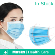 High Quality Earloop Face Mouth Masks 3-layer Protective  Anti-virus Anti-bacterial Surgical mask 10 20 30 50 Pcs