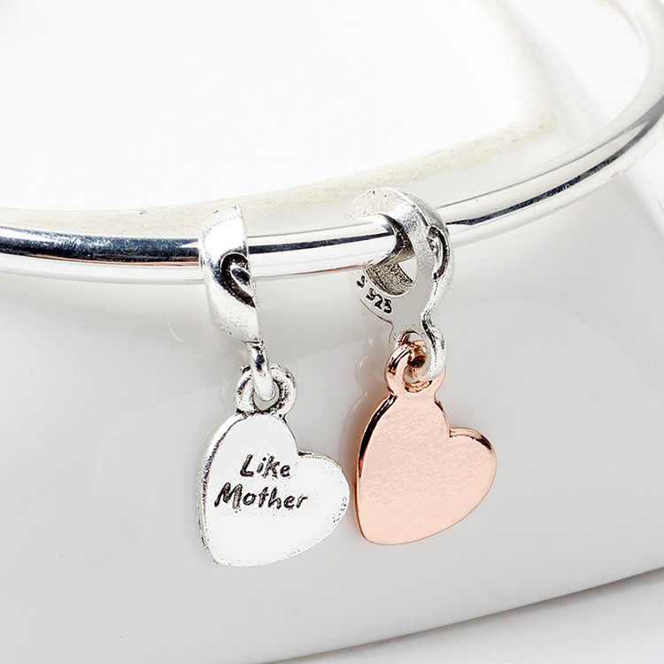 Europeu de Luxo Casal Carta Coração Pingentes Contas Fit Encantos de Pandora para As Mulheres Presente Original Handmade Jóias Bugiganga