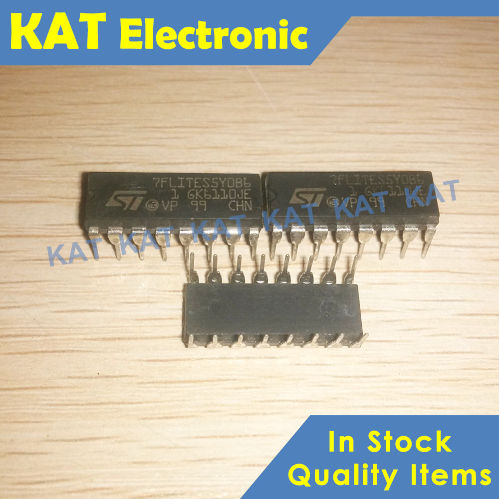 ST7FLITES5Y0B6 7FLITES5Y0B6 DIP-16 8-bit Microcontroller With Single Voltage Flash Memory, Data EEPROM, ADC, Timers, SPI