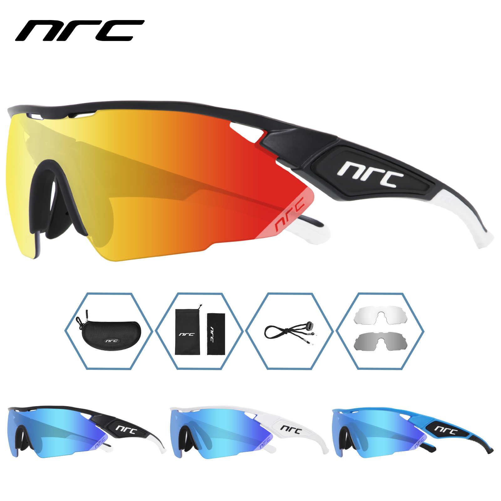 Велосипедные очки NRC с 3 линзами, очки для горного и дорожного велосипеда UV400, велосипедные солнцезащитные очки TR90, спортивные очки для улицы, красные мужские очки