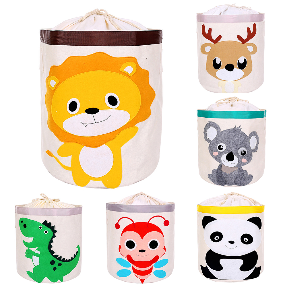 New Kids Cartoon Toy Storage Basket Laundry Basket Storage Basket Large Cotton Linen Clothes Sundries Basket  Gift Basket