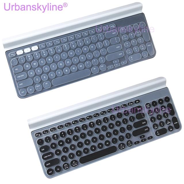 K780 osłona klawiatury dla Logitech K 780 bezprzewodowy Bluetooth przezroczysty czarny ue usa Film silikonowa obudowa TPU Slim cienki angielski