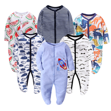 6pieces/lot Baby rompers Newborn Girls Boys Clothes 100% Cotton Long Sleeves Pajamas Cartoon Printed Babys Sets