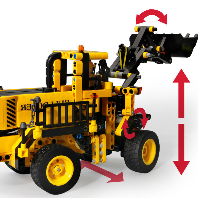 DIY Technic Excavator Wheel Loader Sets Model Building Blocks Bricks Series Technique Educational Toys For Children kids Gifts 1