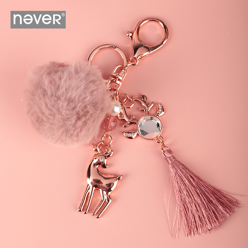 Never Christmas Series Notebook Spiral Ring Diary Pendant Planner Decorative Key Rings Cute Deer Pendants School Gift Stationery