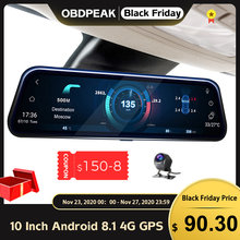 A980 Smart Achteruitkijkspiegel Camera 10 ''4G Android 8.1 Auto Dvr 1080P Dual Lens Dash Cam Griffier video Recorder Gps Wifi Spiegel