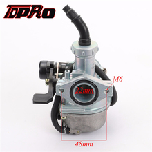 TDPRO PZ22 Left Lever Choke Carburetor 22mm Racing Carbureter For 50cc 70cc 90cc 110cc 125cc Pit Dirt Bike Go Kart Pitpro Pister