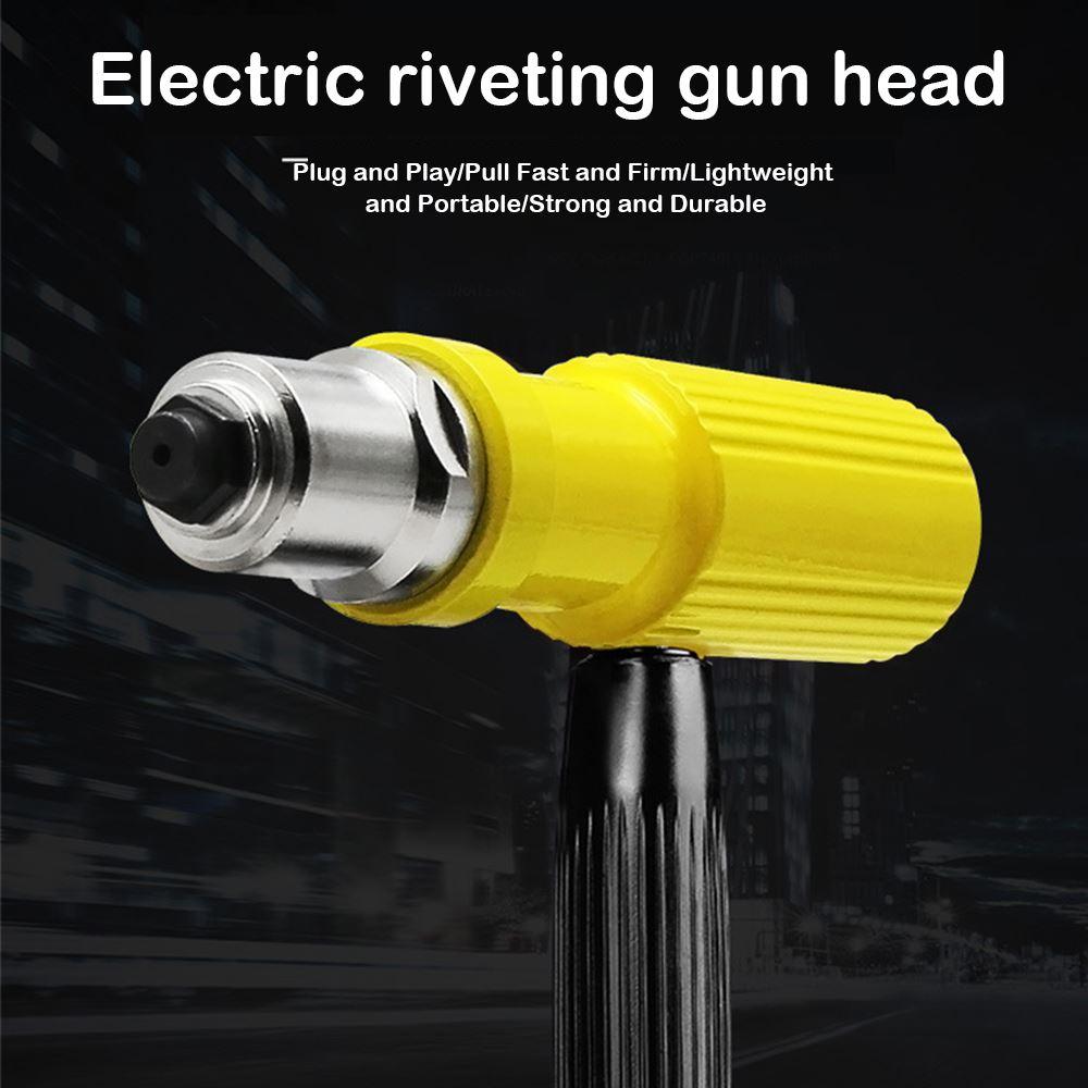 Electric Rivet Nut Gun Pop Riveting Drill Adaptor Nozzle Rivet AdapterSuitable 2.2-3.2mm Pull Riveting Machine