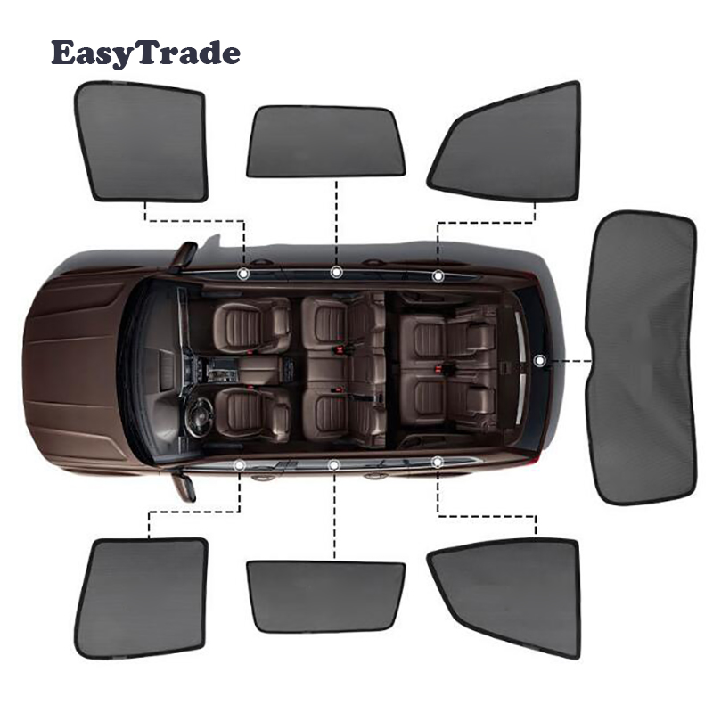 For BMW X5 X6 F15 F16 E53 E70 E71 Accessories Magnetic Car Sun Shade Mesh Sunshade Side Window Sun Visor Sunscreen Insulation