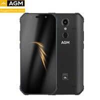 "AGM A9 IP68 impermeable resistente teléfono 5,99 ""HD 18:9 4GB RAM 32GB ROM SDM450 Octa Core 5400mAh huella dactilar tipo-C NFC"