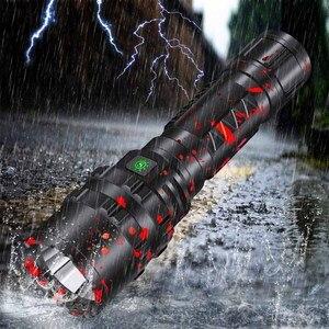 Image 5 - Litwod lampe torche de chasse 3800 Lumens, lumière LED puissante, lampe tactique Rechargeable, lampe torche de reconnaissance étanche, 5 Modes, 18650/26650