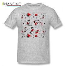 Charlie Brown T Shirt CHARLIE BROWN T-Shirt Printed Plus size  Tee Fun Basic Short-Sleeve 100 Cotton Male Tshirt