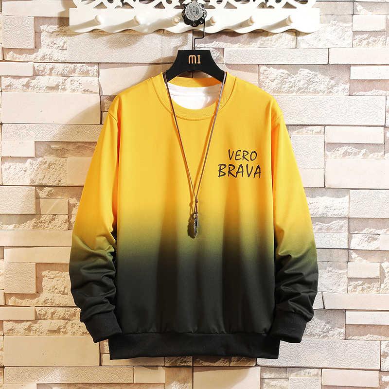 秋春 2020 パーカースウェットメンズ黒、白のヒップホップパンクプルオーバーストリートカジュアルファッション服プラス特大 5XL