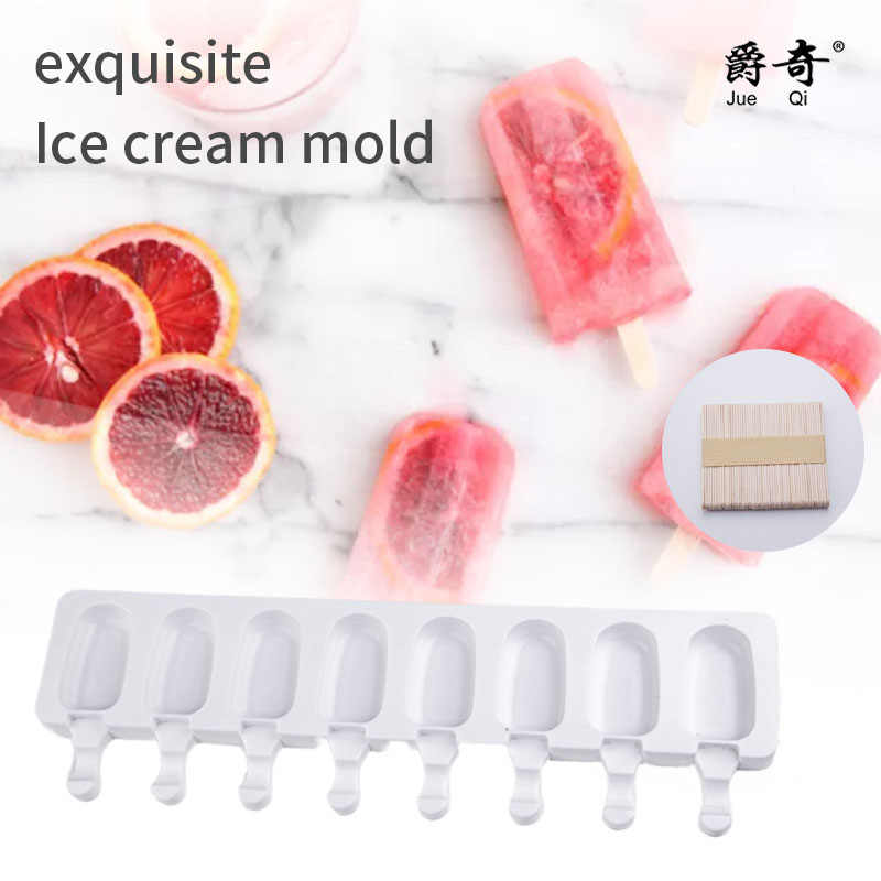 8/4/1 loch Silikon Eis Form Ice Cube Tray Popsicle Barrel Diy Mold Dessert Eis Form mit popsicle Stick