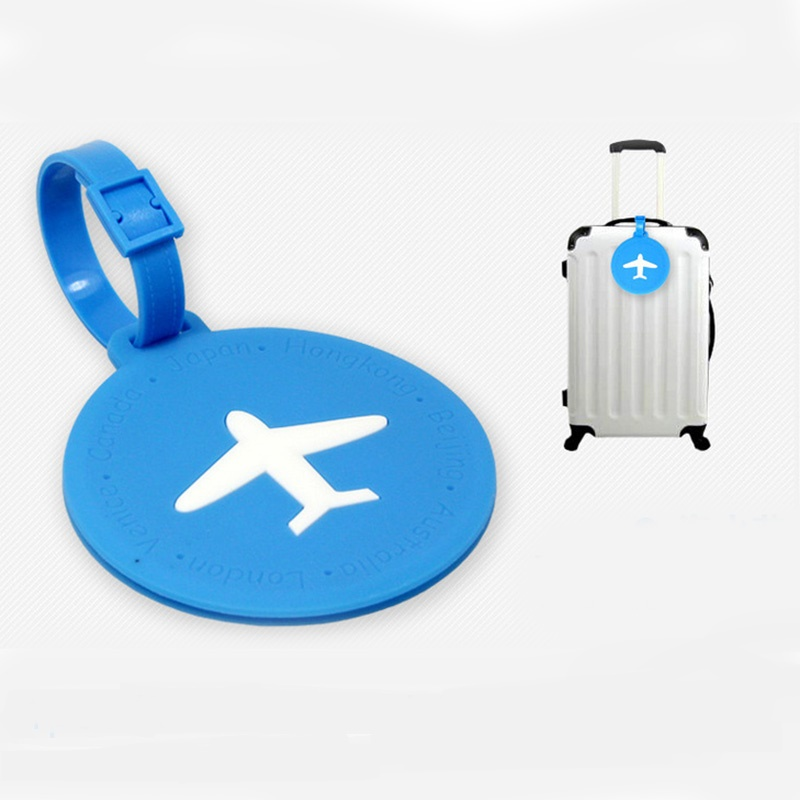 Creative Aircraft Bag Tag PVC Luggage Travel Accessories Identification Card Addres Holder Portable Labe Baggage Boarding Tags