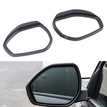 Chrome olhar de carbono para ford explorer 2020 2021 porta lateral retrovisor transformando espelho chuva sobrancelha quadro guarnição acessórios do carro