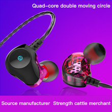 3.5mm Super Bass Sound Earphone Dual Unit Stereo Wired Earphones With Microphone Headset For Samsung Xiaomi iPhone Smartphone цена 2017