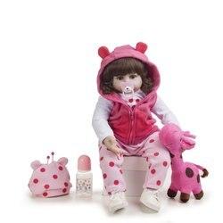 48cm Silicone Reborn bébé poupée jouets pour enfants exquis vinyle nouveau-né princesse enfant en bas âge fille vivante Boneca bébés cadeau d'anniversaire