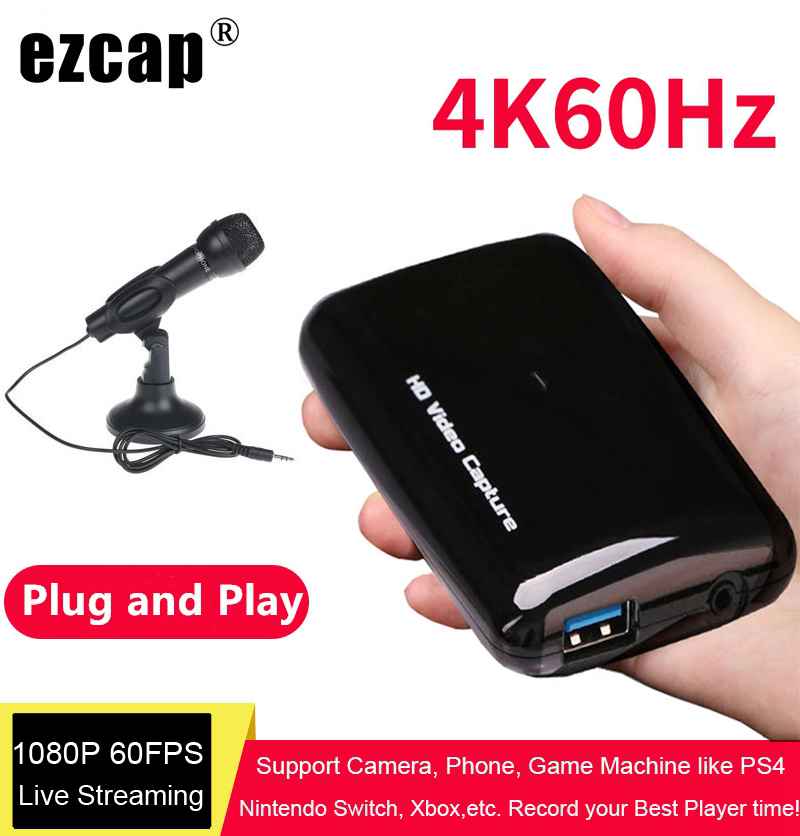 Ezcap 287 287P 261 266 Upgrade to 301 4K HD 1080P 60fps Video Capture Card HDMI to USB 3.0 Live Streaming Device Recording Box image