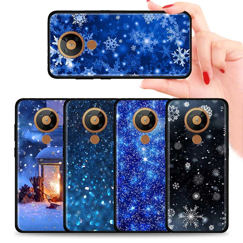 Winter Snowflakes Silicone Phone Case For Nokia 2.2 2.3 3.2 4.2 7.2 1.3 5.3 8.3 2.4 3.4 C3 C2 1.4 5.4