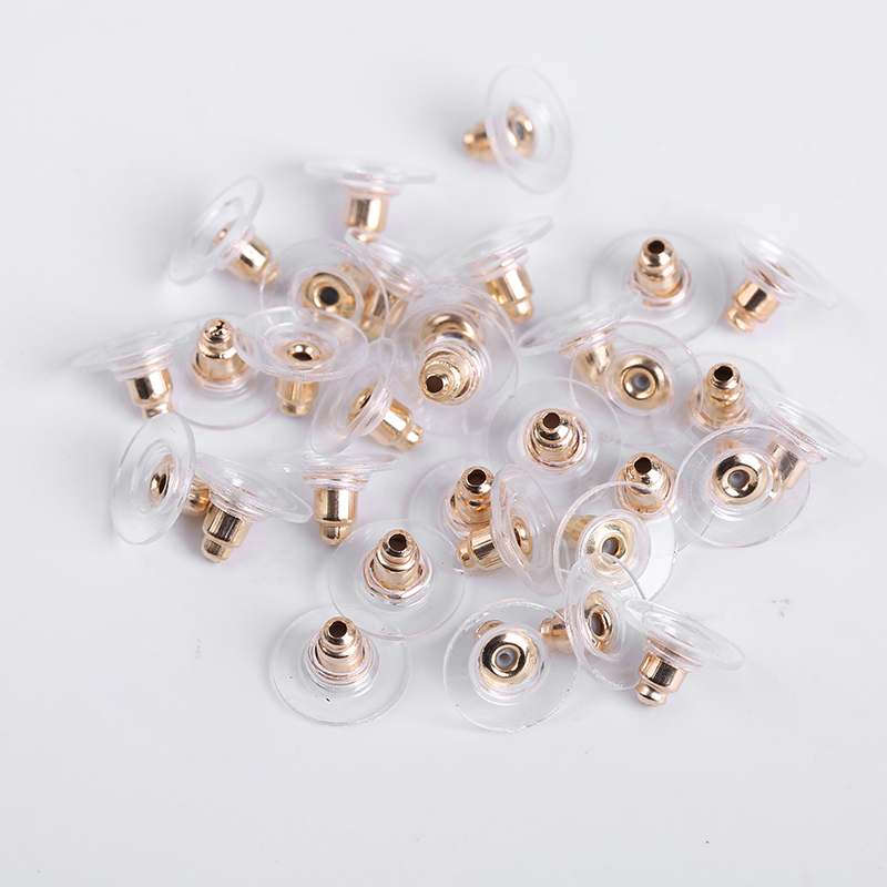 100Pcs/Lot Soft Rubber Stud Earring Back Stoppers Ear Post Nuts For DIY Jewelry Findings Earrings Accessories
