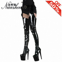 Details about  /New Fashion Women Nightclub Stone Pattern Over The Knee Thigh High Heel Boots L