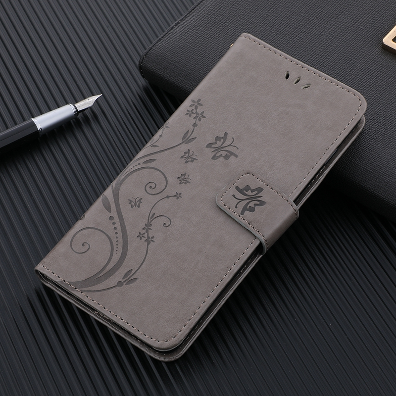 Leather Case for <font><b>Xiaomi</b></font> <font><b>Redmi</b></font> <font><b>Note</b></font> 6 <font><b>7</b></font> <font><b>Pro</b></font> Note7 Note6 <font><b>Global</b></font> <font><b>Version</b></font> 360 Degree Protection Butterfly Wallet Flip Phone Cover image