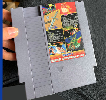 FOREVER DUO GAMES OF NES 852 in 1 (405+447) Game Cartridge for NES Console, total 852 games 1024MBit Flash Chip in use