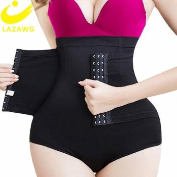 LAZAWG Women Butt Lifter Shapewear Hight Waist Tummy Control Body Shaper Shorts Waist Trainer Panty Panties with Hook Shapers