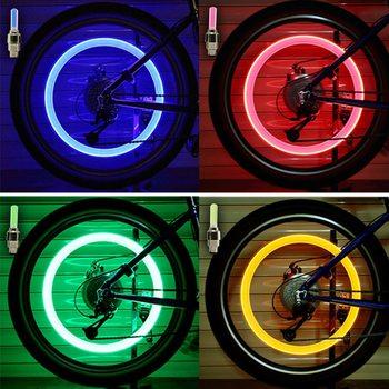 1Day ShipNeon Lights Tyre Wheel Valve Cap Light LED Flash Car Tire Valve Caps Air Cover Tire Rim Valve Wheel Stem Cap Bike Light