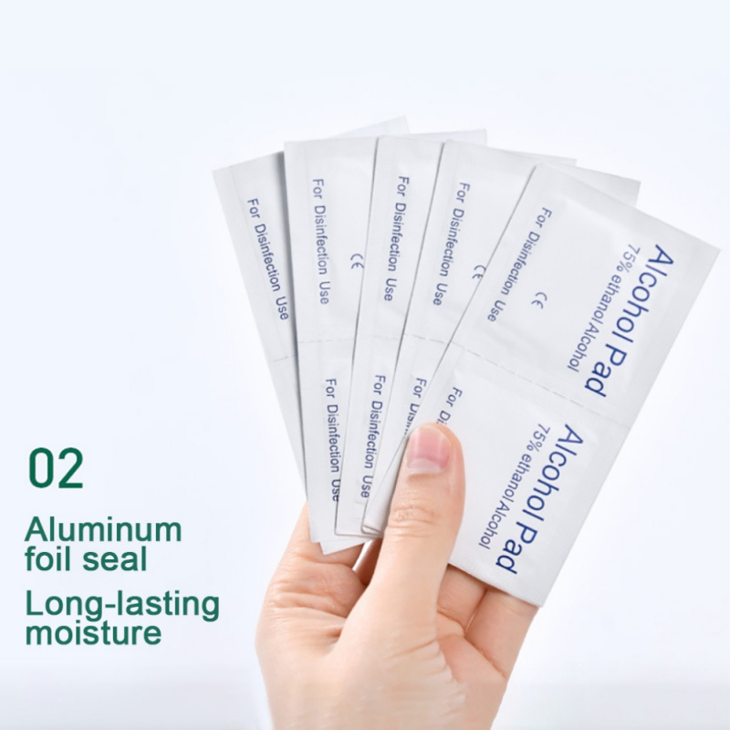 100pcs 75 Degree Disposable Portable Sterilization Wipe Mobile Cleaning Wipes Large Size  Alcohol Cotton Sheet