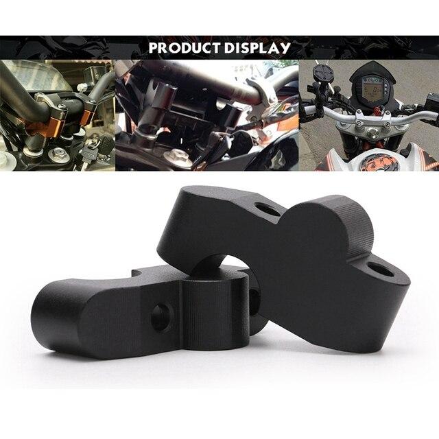 Guidon de moto surélevé étendre la barre de poignée pince de montage Riser pour KTM 390DUKE DUKE390 2017-2019 pièces de moteur