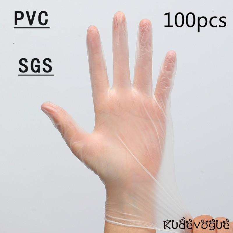 Environmental Protection PVC Disposable Gloves Hygienic Transparent Food Grade Fingerprint Touch Screen Protection Isolation