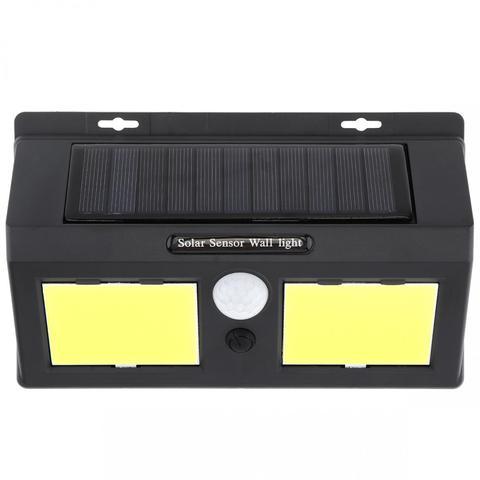 dupla 96 cob led energia solar pir