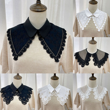 Sweet Hollow Scarf Sweet hawl Decoration Breathable Fake Collar Scarf Around The Neck Lace False Collar French Flower Neckline