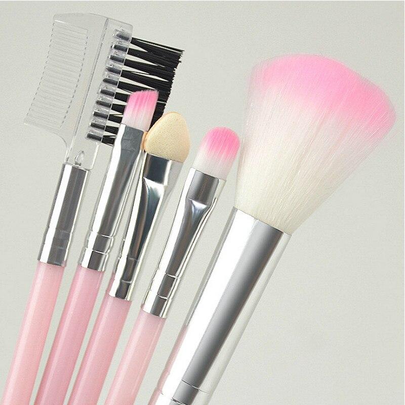 5 sets of makeup brush set pink black eye shadow powder brushes 13cm 1